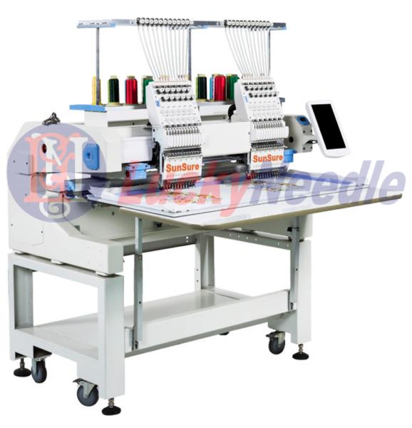 Компактная двухголовочная вышивальная машина с увеличенным полем вышивки SunSure1202H